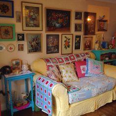 My granny chic living room.