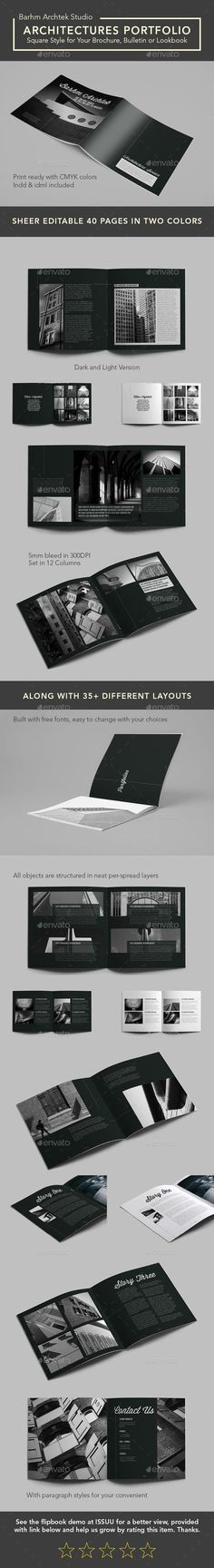 new modern architecture brochure template indesign indd 24 pages