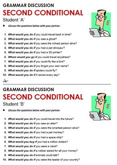 Second Conditional - All Things Grammar English Grammar Worksheets, English Verbs, English Phrases, English Class, English Lessons, English Vocabulary, Learn English, English Conversation Learning, Conversation Cards