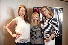 Rachel Nichols and Elizabeth Berkley at the Red Carpet Ready Fitness & Beauty Summit.