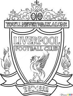 How to Draw Liverpool, Football Logos drawing Liverpool Badge, Liverpool Fc Gifts, Liverpool Memes, Liverpool Poster, Liverpool Skyline, Liverpool Tattoo, Anfield Liverpool, Liverpool Fc Wallpaper, Sport