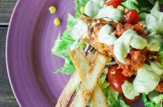Healthy  Spicy Fish Taco Salad / Taking our favourite fish tacos from the restaurant and making it more tasty and healthy by grilling instead of frying. @Linda Icenhower of Butter