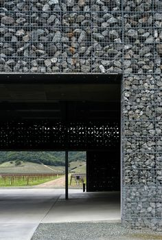Dominus winery, Napa Valley, California by Herzog & de Meuron Architects
