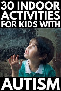 30+ Activities for Kids with Autism   We've got over 30 fun ideas, games, and activities to help develop your child's social skills, speech and communication skills, and gross and fine motor skills, as well as provide him a way to release physical energy and find ways to calm down and self-regulate. Perfect for bad weather days, we've included worksheets, task boxes, and art projects! #autism #autismactivities #specialneeds #specialneedsparenting #learningthroughplay
