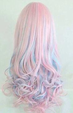 50 Sweeet Cotton Candy Hair Ideas That Are As Aye-pleasing As Can Be - rainbow hair - Hair Designs Cute Hair Colors, Bright Hair Colors, Hair Dye Colors, Cool Hair Color, Colorful Hair, Pink Color, Pastel Colors, Pastels, Multicolored Hair