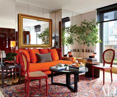 25 Gorgeous Rooms Featuring Warm Colors Photos | Architectural Digest
