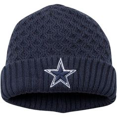 Dallas Cowboys New Era Women's Cutie Knit Cuffed Hat – Navy Blue
