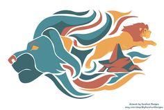 The Lion King Print by SurefootDesigns on deviantART