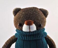 Childrens Teddy Bear Plush Sock Toy or by starsbythedoorstitch, £15.00
