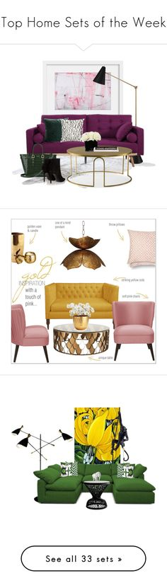 """Top Home Sets of the Week"" by polyvore ❤ liked on Polyvore featuring interior, interiors, interior design, home, home decor, interior decorating, Jonathan Adler, Andrew Martin, Hervé Gambs and Aspinal of London"