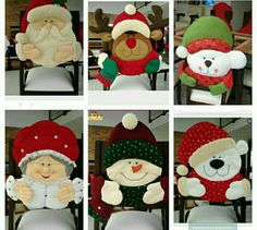 Tablero Navidad Christmas Sewing, Diy Christmas Ornaments, Christmas Snowman, Christmas Humor, Christmas Stockings, Christmas Decorations, Holiday Decor, 242, Chair Covers