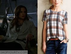 The Flash: Season 1 Episode 10 Caitlin's Plaid Top