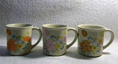 Vintage Set of Three Bright Floral Beige Stoneware Coffee Mugs Vintage http://www.amazon.com/dp/B014NSMYL2/ref=cm_sw_r_pi_dp_.NNUwb03KV6ZE