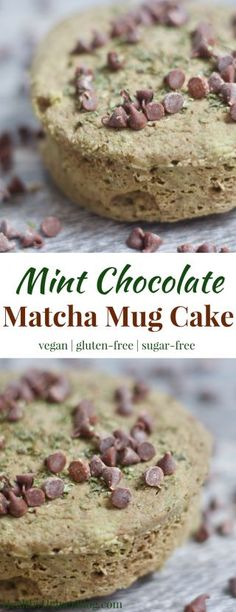 Mint Chocolate Matcha Mug Cake | Healthy Helper @Healthy_Helper Classic mint chocolate flavor with a burst of earthiness from antioxidant-rich matcha green tea powder! This Mint Chocolate Matcha Mug Cake is vegan, gluten-free, and comes together in less than 5 minutes. The perfect snack that you can have all to yourself for under 150 calories!