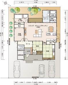 1F間取 Room Interior, Interior Design, Japanese House, Room Tour, House Layouts, House Plans, Sweet Home, Floor Plans, Flooring