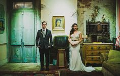 Fun portrait from a New Orleans wedding