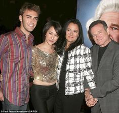 Beloved: Robin Williams with his two eldest children, Zachary and Zelda and ex-wife Marsha in 2006