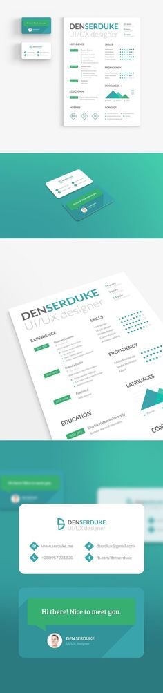 Clean Resume\/CV Resume templates, Resume design and Cv design - different resume templates