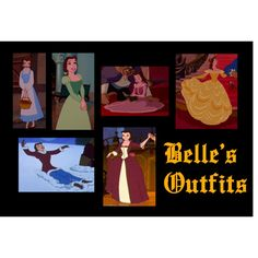 """""""Belle's Outfits"""" by tigressofindia on Polyvore"""