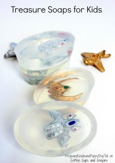 Treasure soaps for kids are are fun DIY project that gets kids excited about washing their hands!