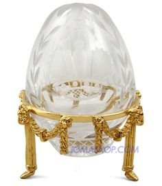 Petersburg Crystal Petite Egg Collection Clear Crystal Eggs Imperial Crown Egg - Other Crystals and Figurines - Crystals & Figurines - Gifts Crystal Egg, Clear Crystal, Lausanne, Fabrege Eggs, Egg Art, Russian Art, Egg Decorating, Fancy, Jewelry