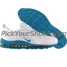 Nike Womens Air Max 97 (white / glass blue) 312461-103 - $129.99