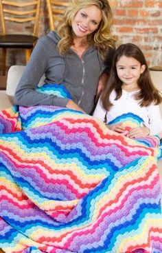 Rainbow Waves Throw
