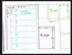 Leuchhturm1917 A5 dotted - bullet journal layout shortcuts with the dots…
