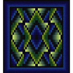 ~ free pattern ~Navajo Winter by Jinny Beyer. Reminiscent of a Navajo rug, this design is created by arranging a repeat of mirrored and non-mirrored versions of a single block.