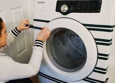 Washers and dryers can be so blah. Add some color or pattern with a bit of washi tape.