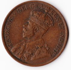 Vintage Coin - Canadian Large Cent Dated 1919 - Copper - Excellent Circulated Coin on Etsy, $5.00