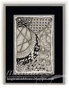 Zentangle Inspired Card 4 by istamp31 - Cards and Paper Crafts at Splitcoaststampers