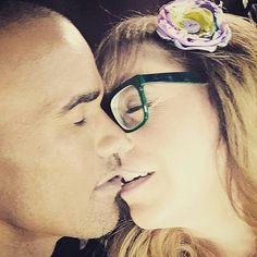 "✯SHEMAR MOORE with his ""Baby Girl"" Penelope Garcia, aka Kirsten Vangsness✯"