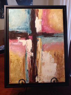 Abstract Cross original  Art My Light painting by Florinda on Etsy, $60.00