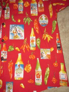 HWY Hula Girl Hot Sauce Peppers Button Up Hawaiian Shirt Sz 3XT Vacation Beach in Clothing, Shoes & Accessories, Men's Clothing, Casual Shirts   eBay