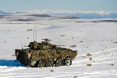 army NZ Army NZLAV conducting live firing in snow during Exercise Army Vehicles, Armored Vehicles, Military Weapons, Military Army, Lav Iii, Canadian Army, Armored Fighting Vehicle, Big Guns, Army Soldier
