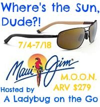 Blogger Opp~Where's the Sun Dude? Maui Jim Giveaway sign up ends 7/1/13 first link free!!!