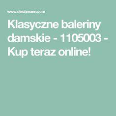 Klasyczne baleriny damskie - 1105003 - Kup teraz online!