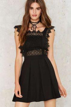 Around the Smock Lace Dress - Dresses