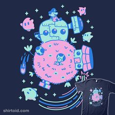 Welcome Space! | Shirtoid #gaming #jaimeugarte #luma #lumas #mario #supermariogalaxy #toad #videogame