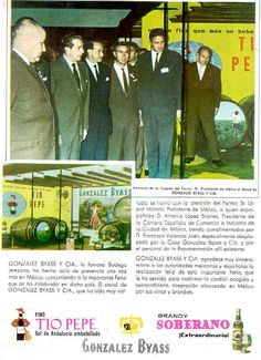 1963: Tio Pepe y Soberano amarillo.
