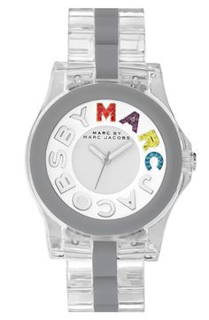 MARC BY MARC JACOBS 'Logo Rivera' Clear Bracelet Watch available at #Nordstrom