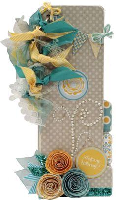 """What's Up, Buttercup?"" Mini Album by Design Team member, Emily Lanhan.  L-O-V-E the flowers!!"