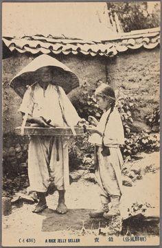 "Chosen (Korea): ""A rice jelly (muk/묵) Seller"""