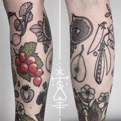 Fruits and vegetables tattoos #fruit #vegetables #tattoos
