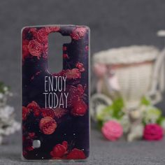 New Beautiful Flower 3D Relief Painted Soft TPU Cover Case For LG Spirit 4G LTE H440Y H420 H422 H440N Phone Shell Cases Silicon