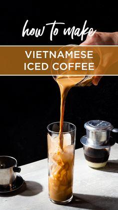 Coffee Smoothie Recipes, Smoothie Drinks, Coffee Recipes, Thai Cooking, Cooking 101, Coffee Shake, Coffee Drinks, Vietnamese Iced Coffee, Food Vans