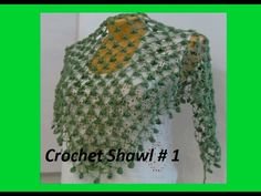 How To Crochet A  Scarf Shawl Step By Step  Shawl #39 - YouTube