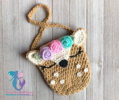 Marvelous Crochet A Shell Stitch Purse Bag Ideas. Wonderful Crochet A Shell Stitch Purse Bag Ideas. Crochet Deer, Crochet Girls, Crochet For Kids, Free Crochet, Crochet Handbags, Crochet Purses, Diy Crochet Wallet, Crochet Patterns Amigurumi, Crochet Blanket Patterns