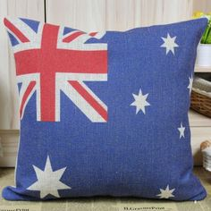 45*45cm Dark Blue Red White Australian Flag Sofa Cushion Cover Pillow Cases by Decho, http://www.amazon.com/dp/B008QFQA00/ref=cm_sw_r_pi_dp_VHUlrb1J6GGZY